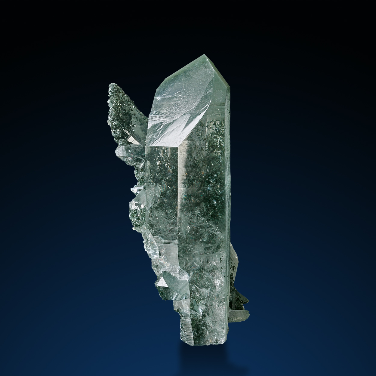 Rock Crystal & Chlorite