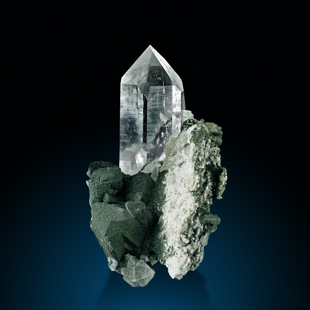 Rock Crystal Adularia & Chlorite