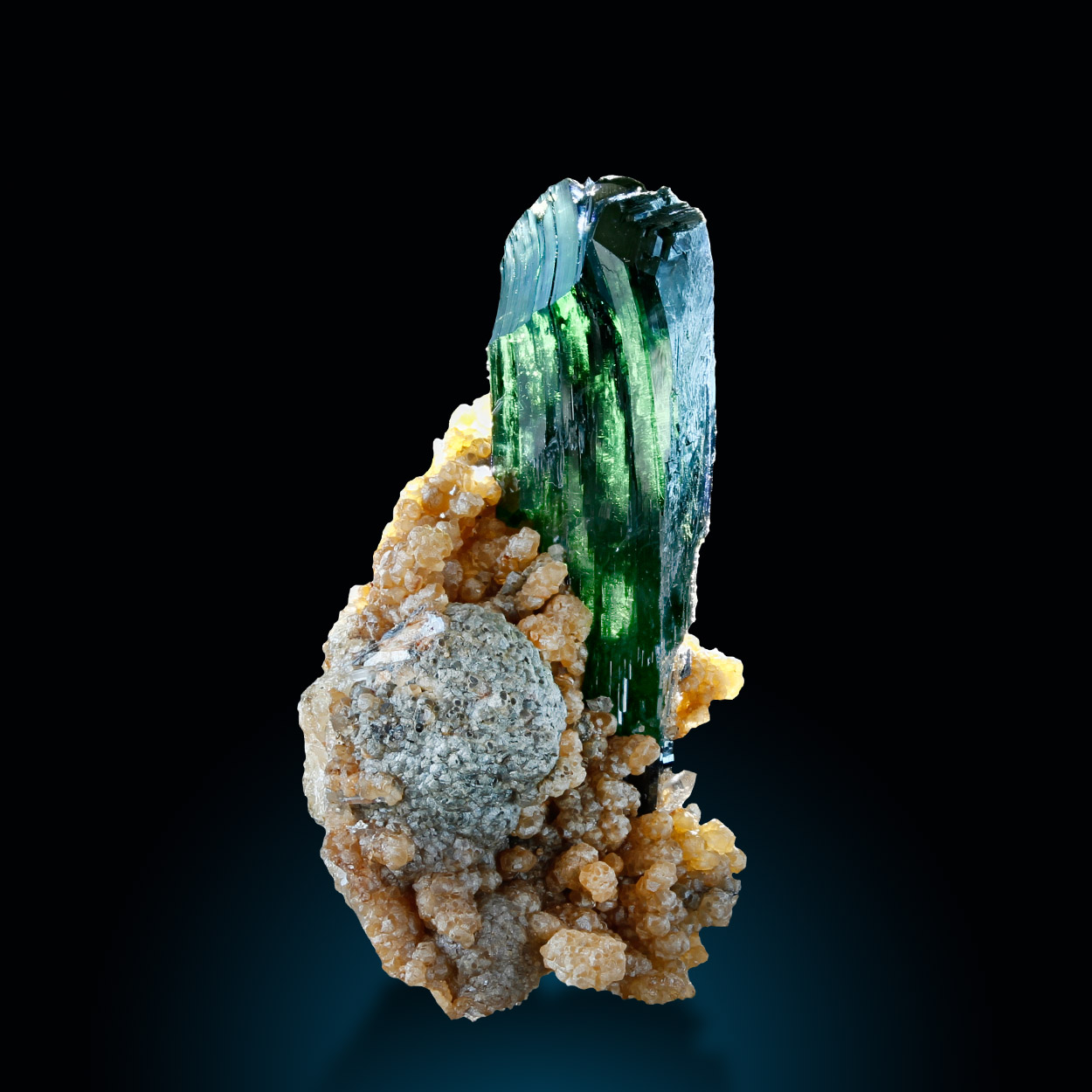 Vivianite Siderite & Quartz