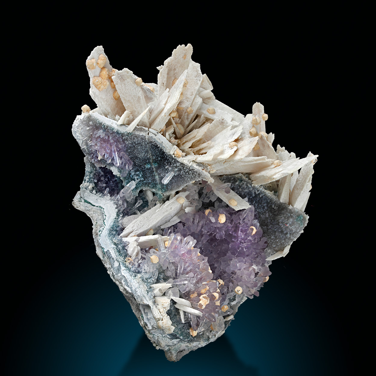 Anhydrite Calcite & Amethyst