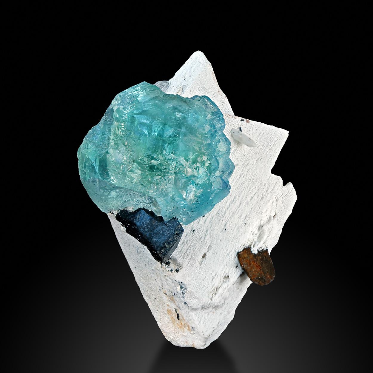 Fluorite Schorl Siderite & Feldspar Group