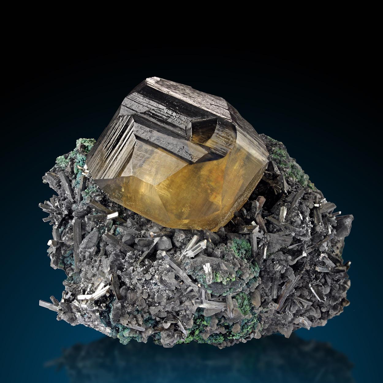 Calcite & Stibnite