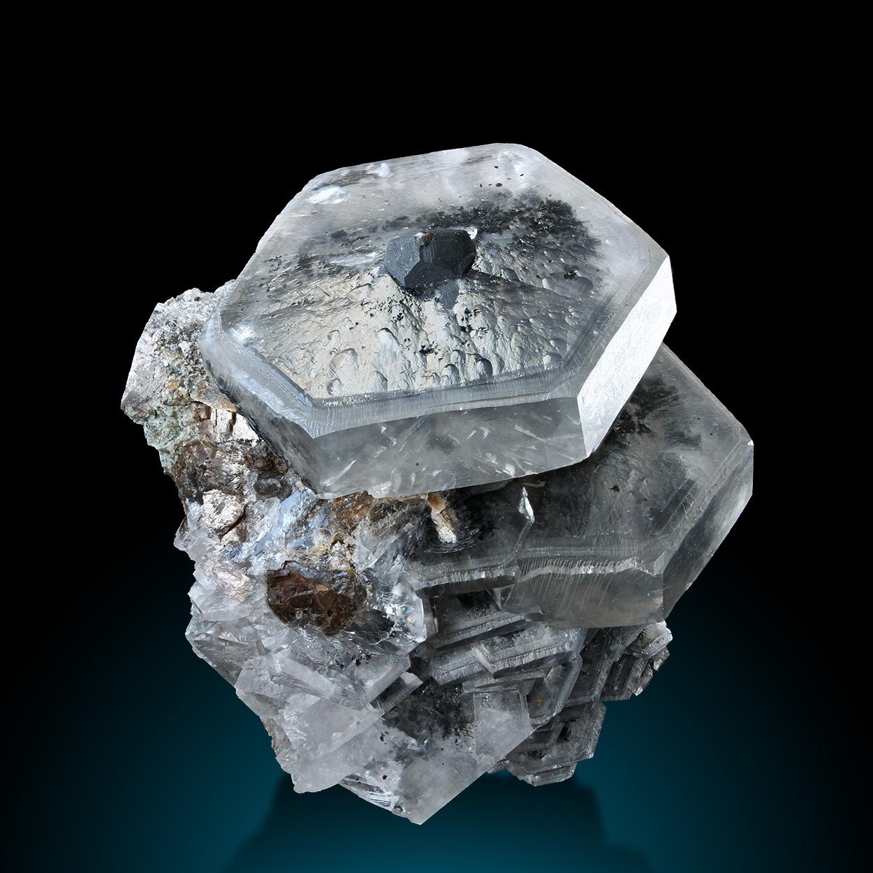 Calcite & Pyrolusite