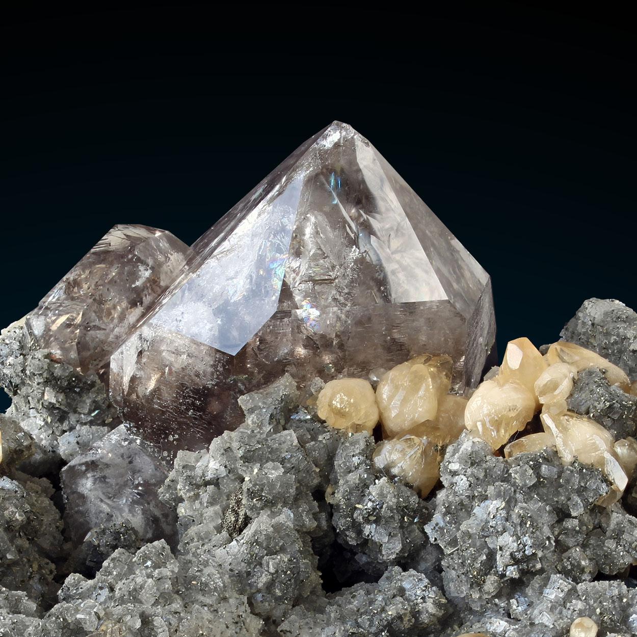 Smoky Quartz Calcite Dolomite Pyrite & Sphalerite