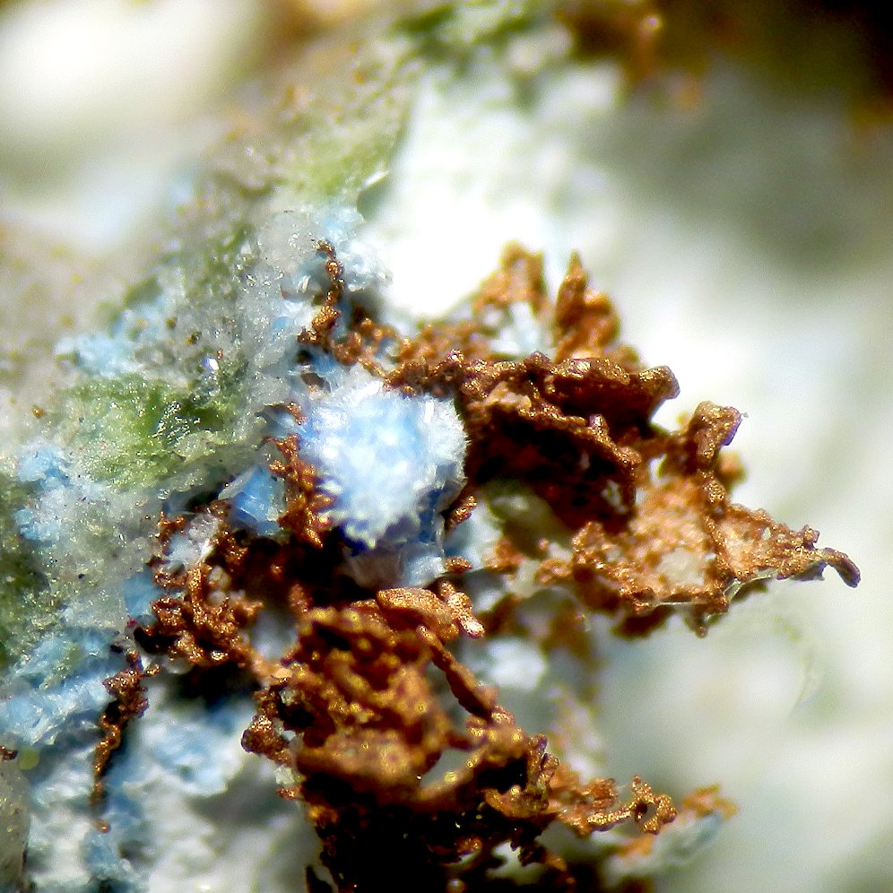 Cyanotrichite & Copper
