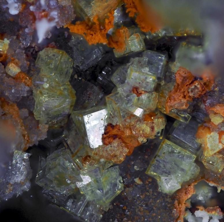 Natropharmacoalumite & Native Gold