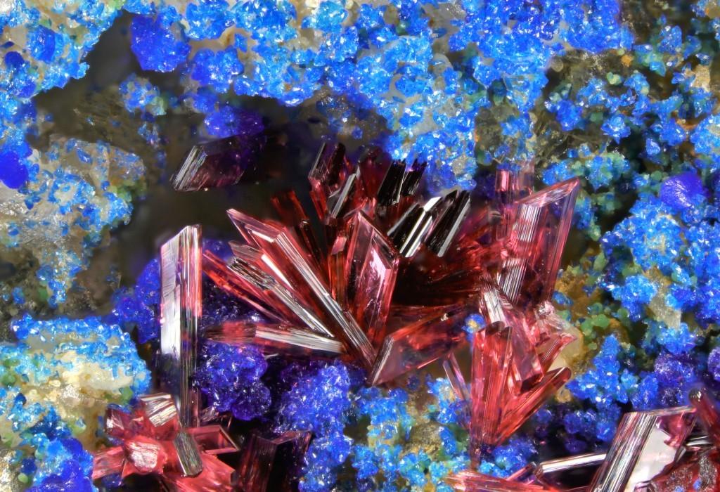 Erythrite On Azurite