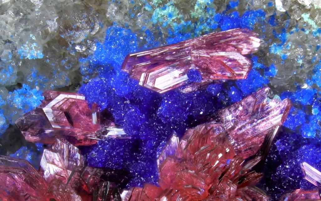 Erythrite Azurite Glaukosphaerite & Aragonite