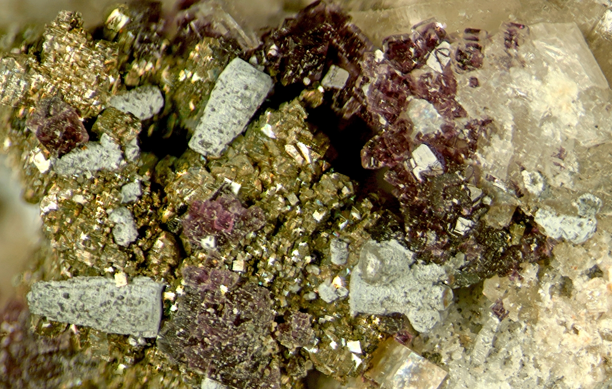 Donnayite-(Y) Pyrite & Fluorite With Donnayite Group