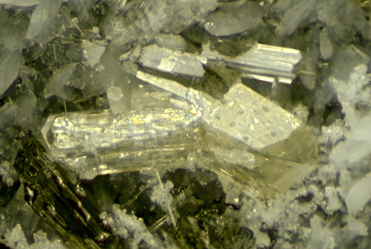 Narsarsukite & Leucosphenite With Richterite Amphibole