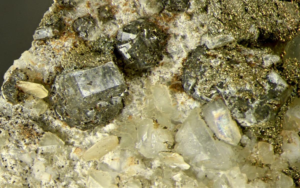 Gaidonnayite On Dolomite With Fluorapatite
