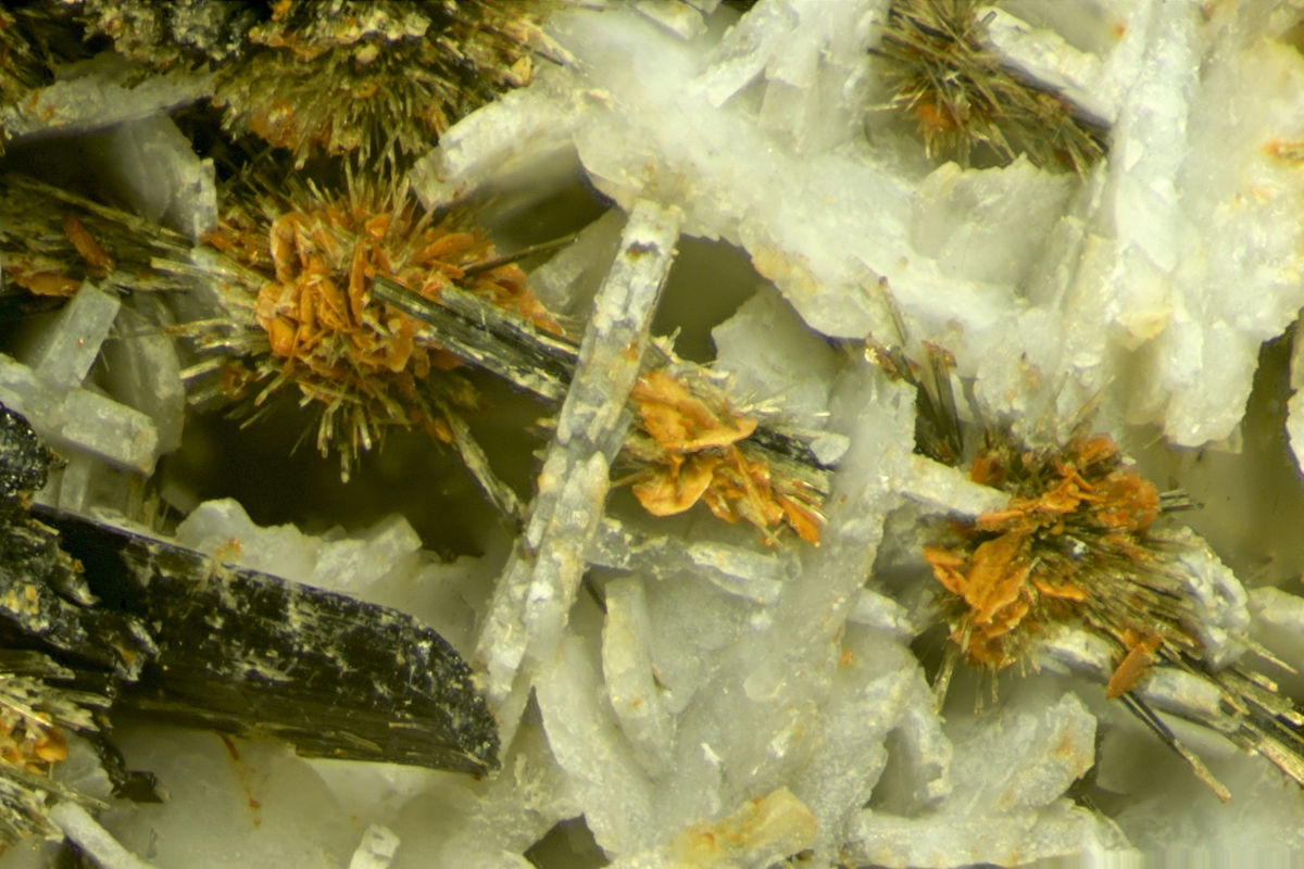 Aegirine With Jarosite