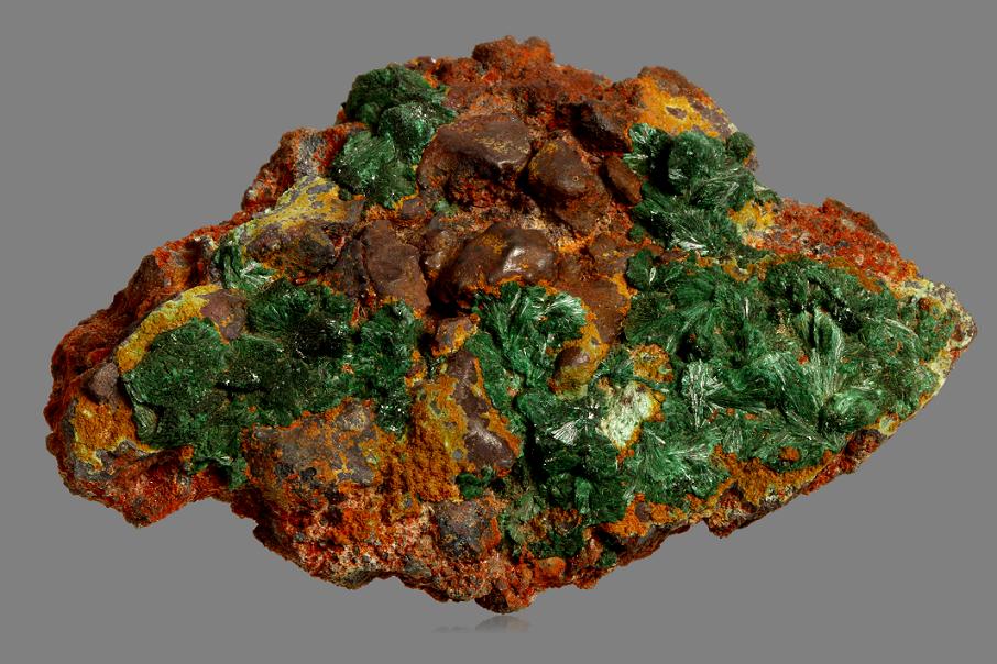 Native Copper With Malachite