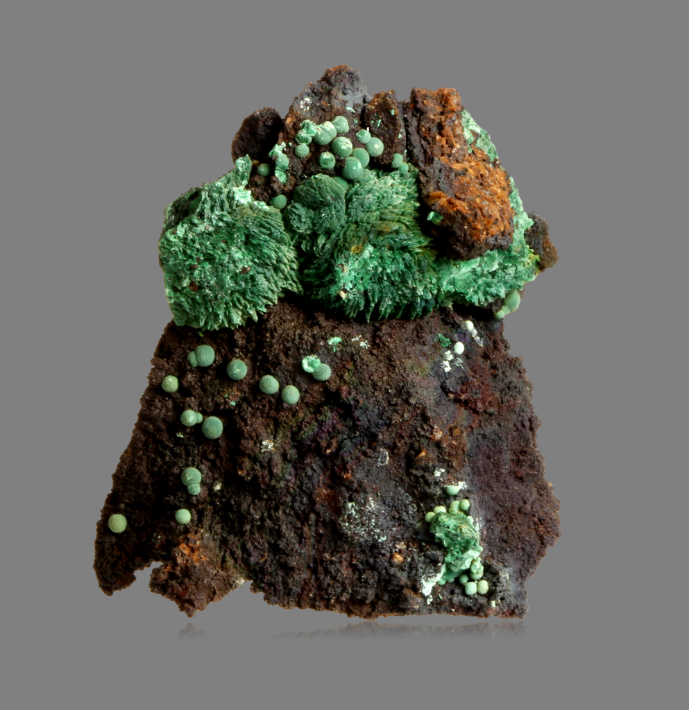 Wulfenite On Malachite Psm Azurite
