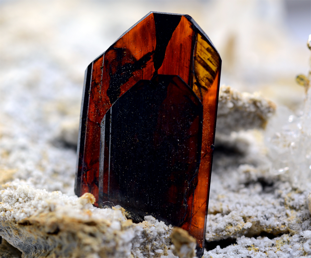Brookite With Faden Quartz