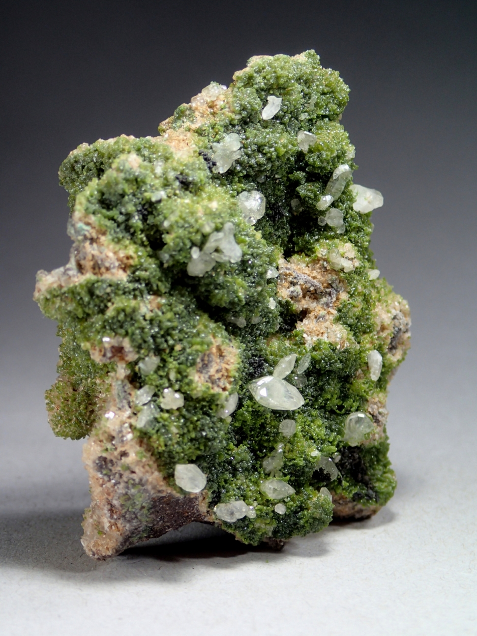 Cerussite On Duftite On Smithsonite