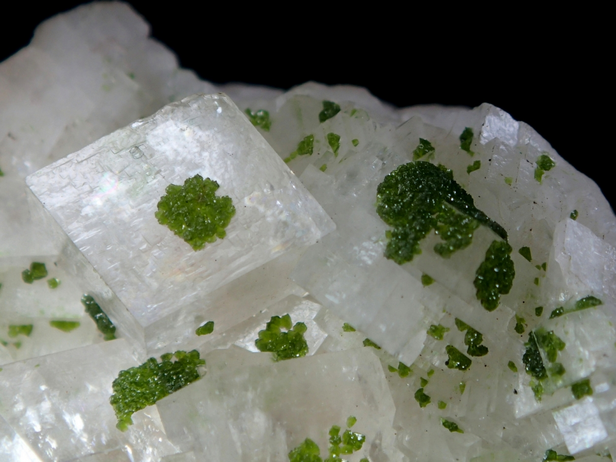 Duftite On Calcite With Duftite Inclusions