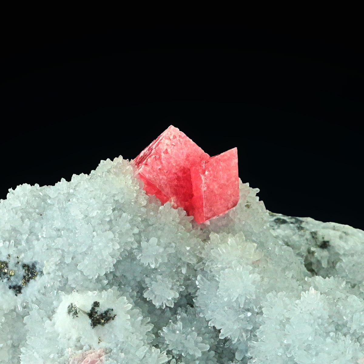 Rhodochrosite With Quartz Pyrite & Apatite