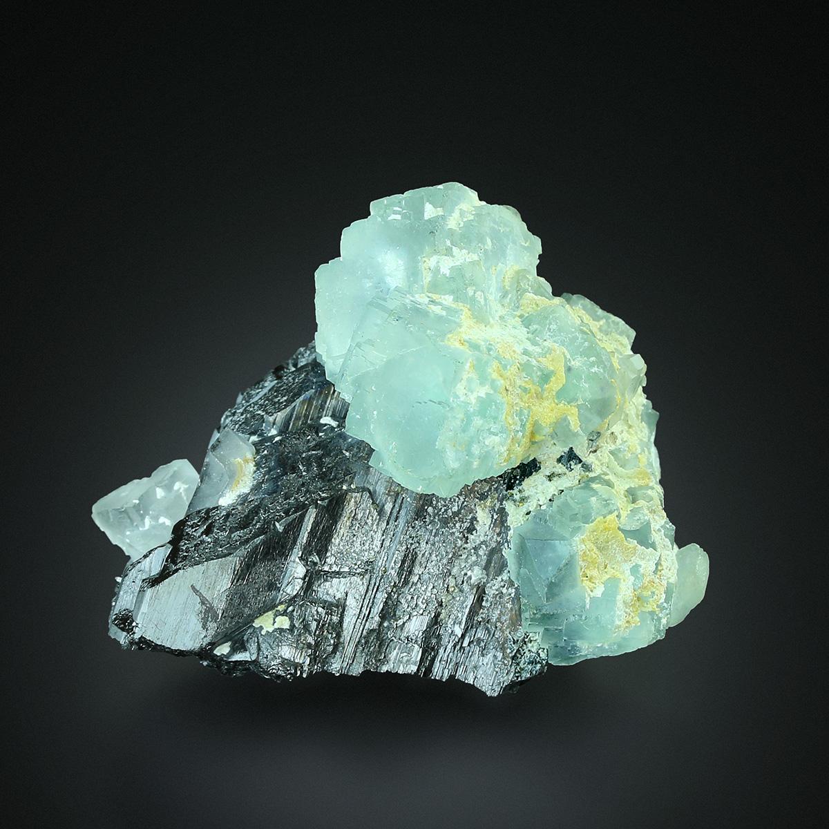 Fluorite On Wolframite