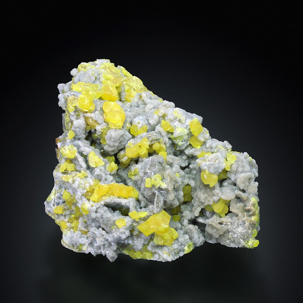Sulphur On Aragonite