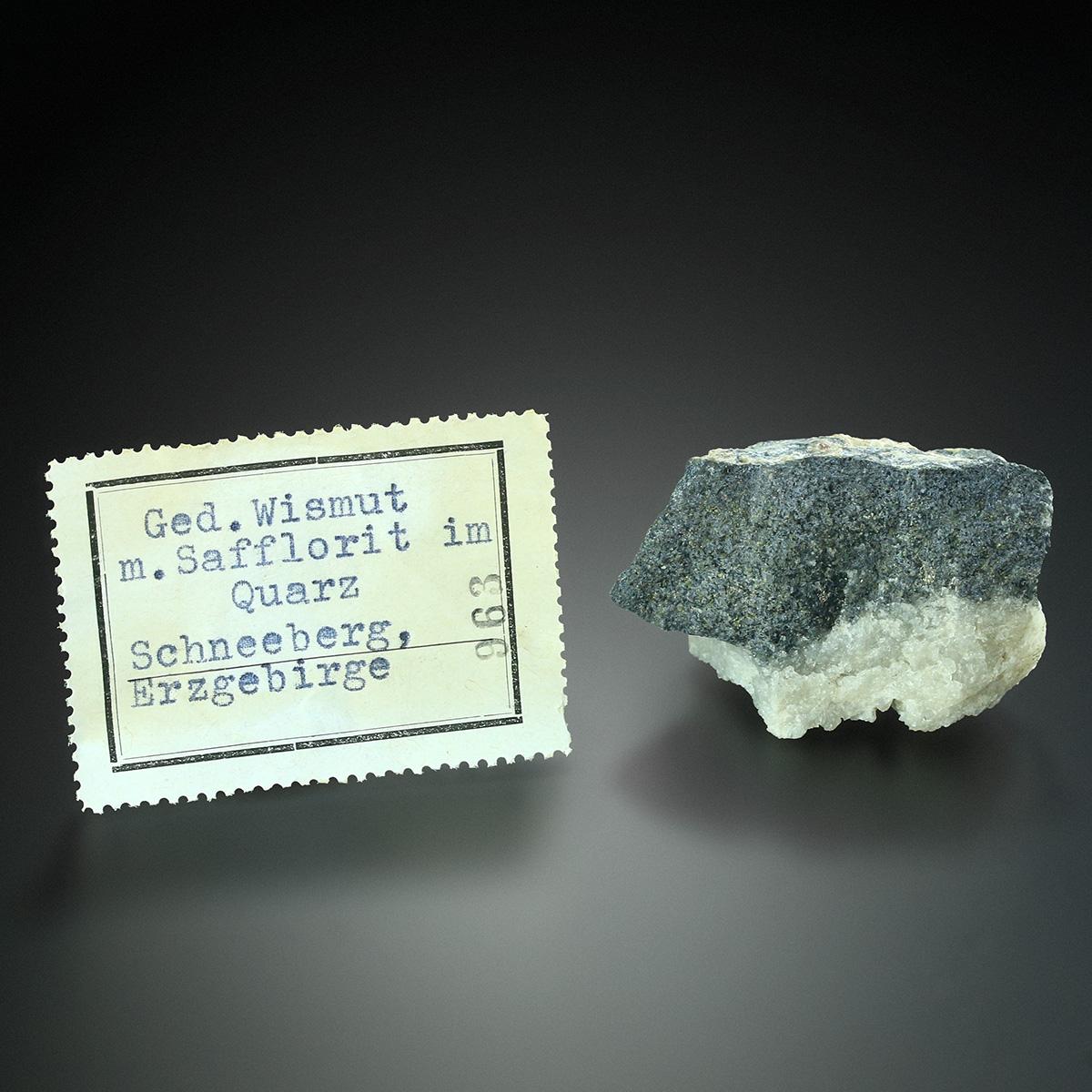 Bismuth With Safflorite & Quartz