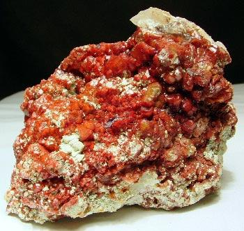 Calcite With Chalcotrichite & Plancheite
