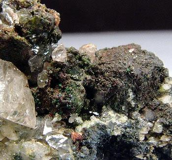 Cerussite Beudantite Olivenite & Galena