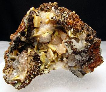 Wulfenite Calcite & Mimetite