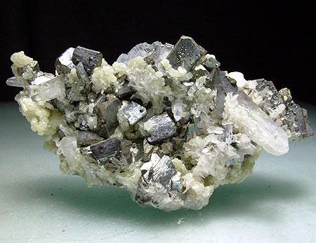 Arsenopyrite With Gilbertite & Quartz