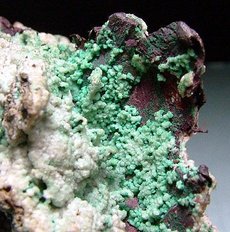 Native Copper Calcite & Malachite