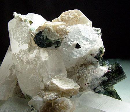Quartz With Elbaite & Beryl