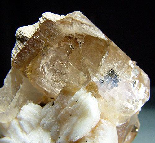 Topaz With Microlite & Schorl Inclusions