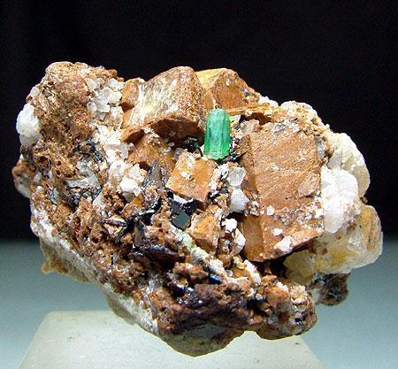 Emerald With Siderite & Hematite
