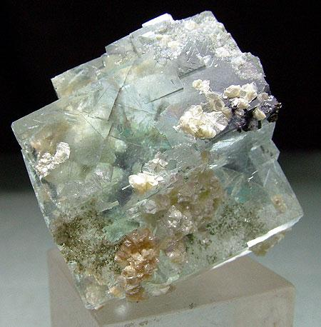 Fluorite With Gilbertite