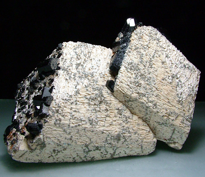 Schorl On Orthoclase With Mica