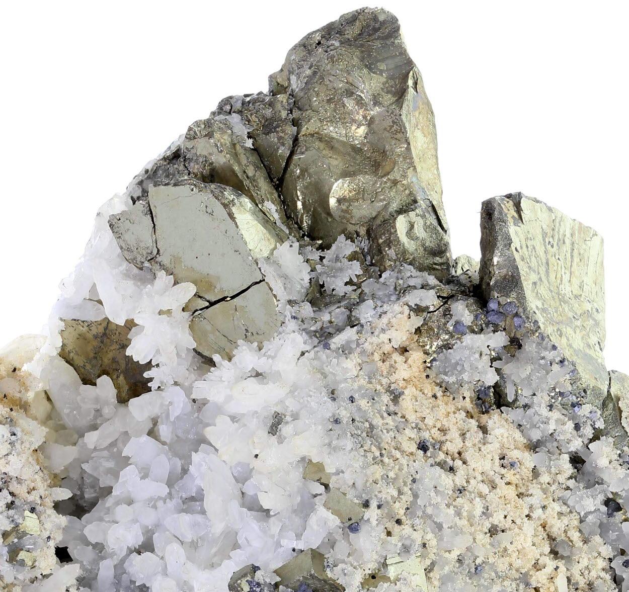 Pyrite Galena & Celestine With Quartz