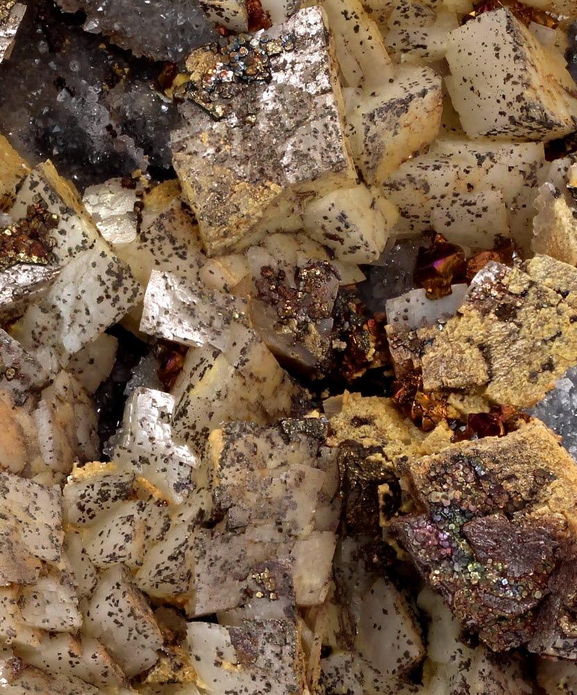 Dolomite Pyrite & Chalcopyrite