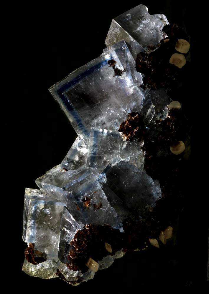 Fluorite With Siderite & Calcite