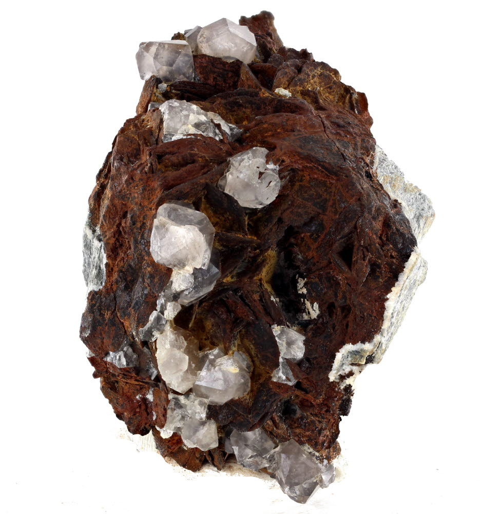 Quartz With Limonite Psm Siderite