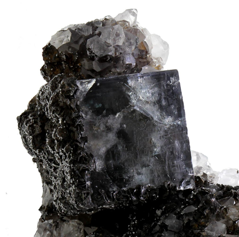 Fluorite With Siderite & Quartz