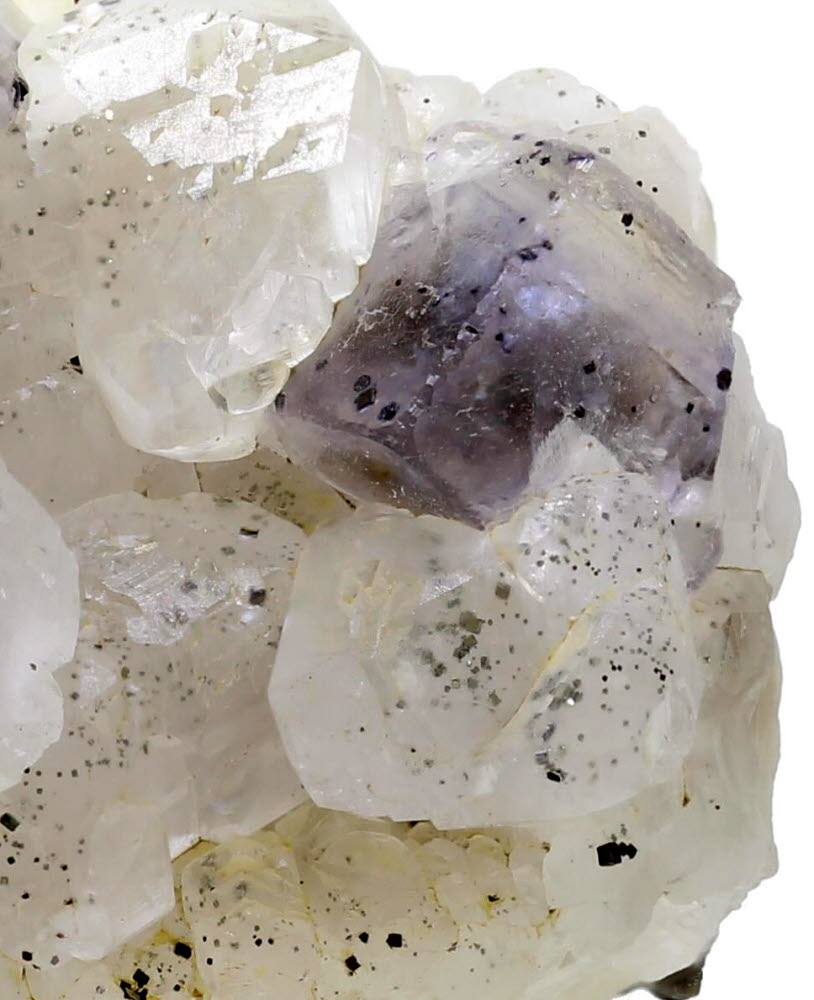Fluorite & Calcite With Pyrite Inclusions