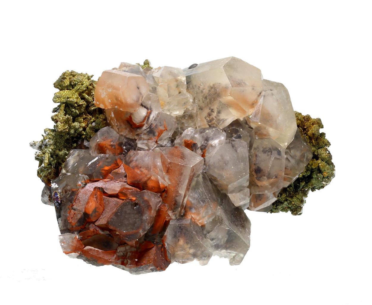 Calcite With Blister Copper Psm Chalcocite