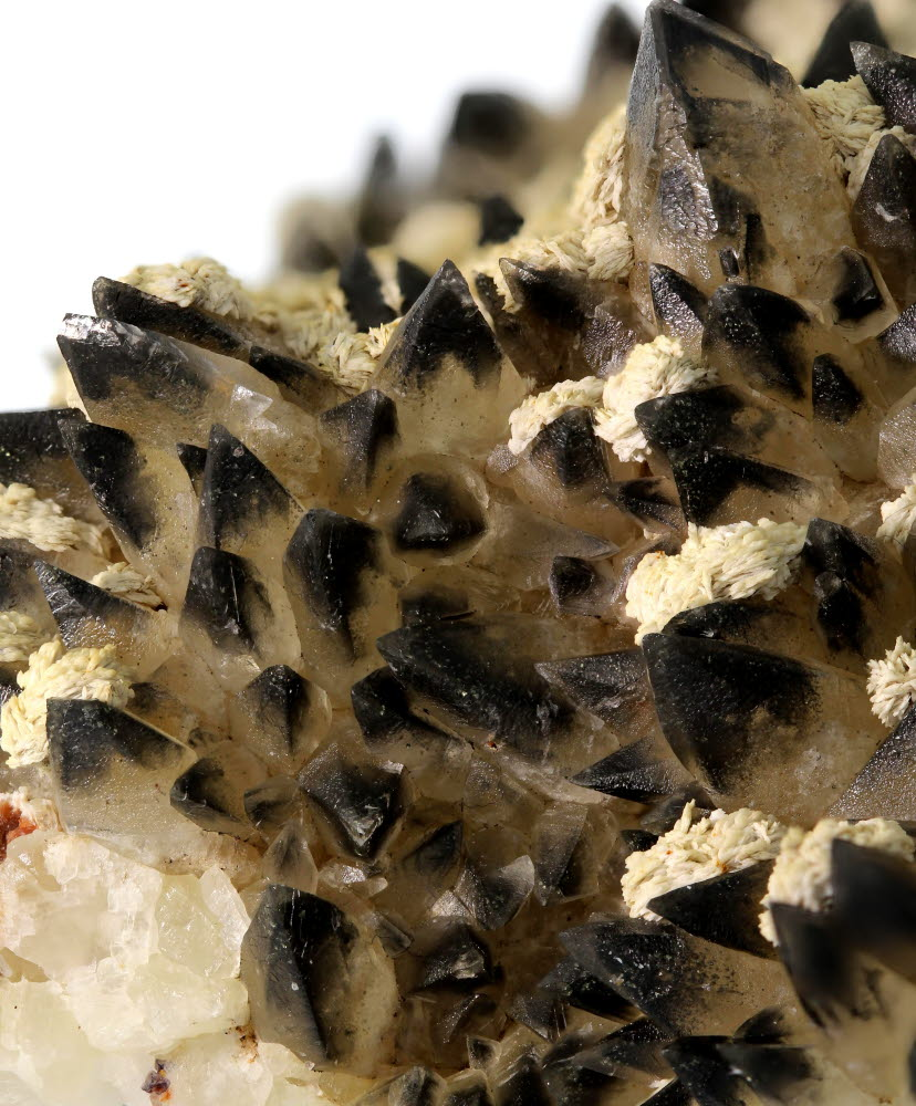 Baryte & Calcite With Hydrocarbon Inclusions