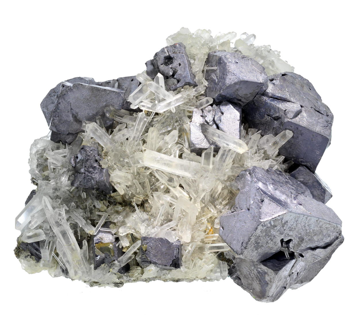 Galena & Quartz With Pyrite