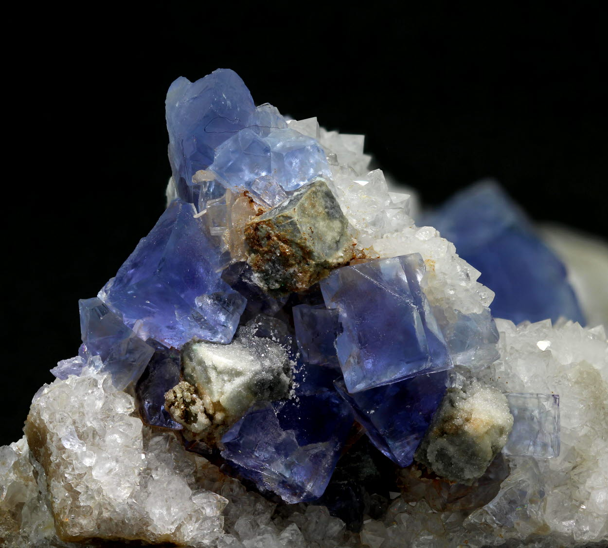 Fluorite & Galena With Quartz