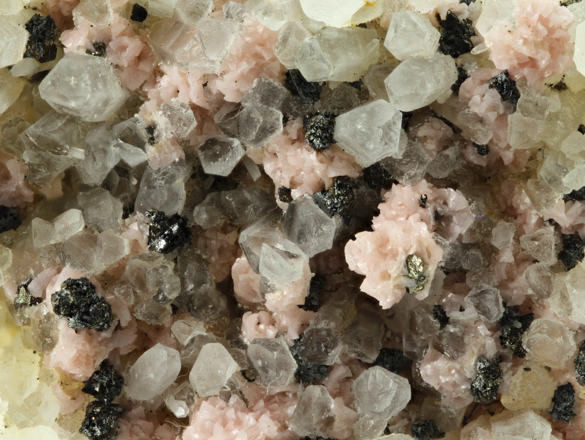 Rhodochrosite Tetrahedrite Pyrite & Quartz