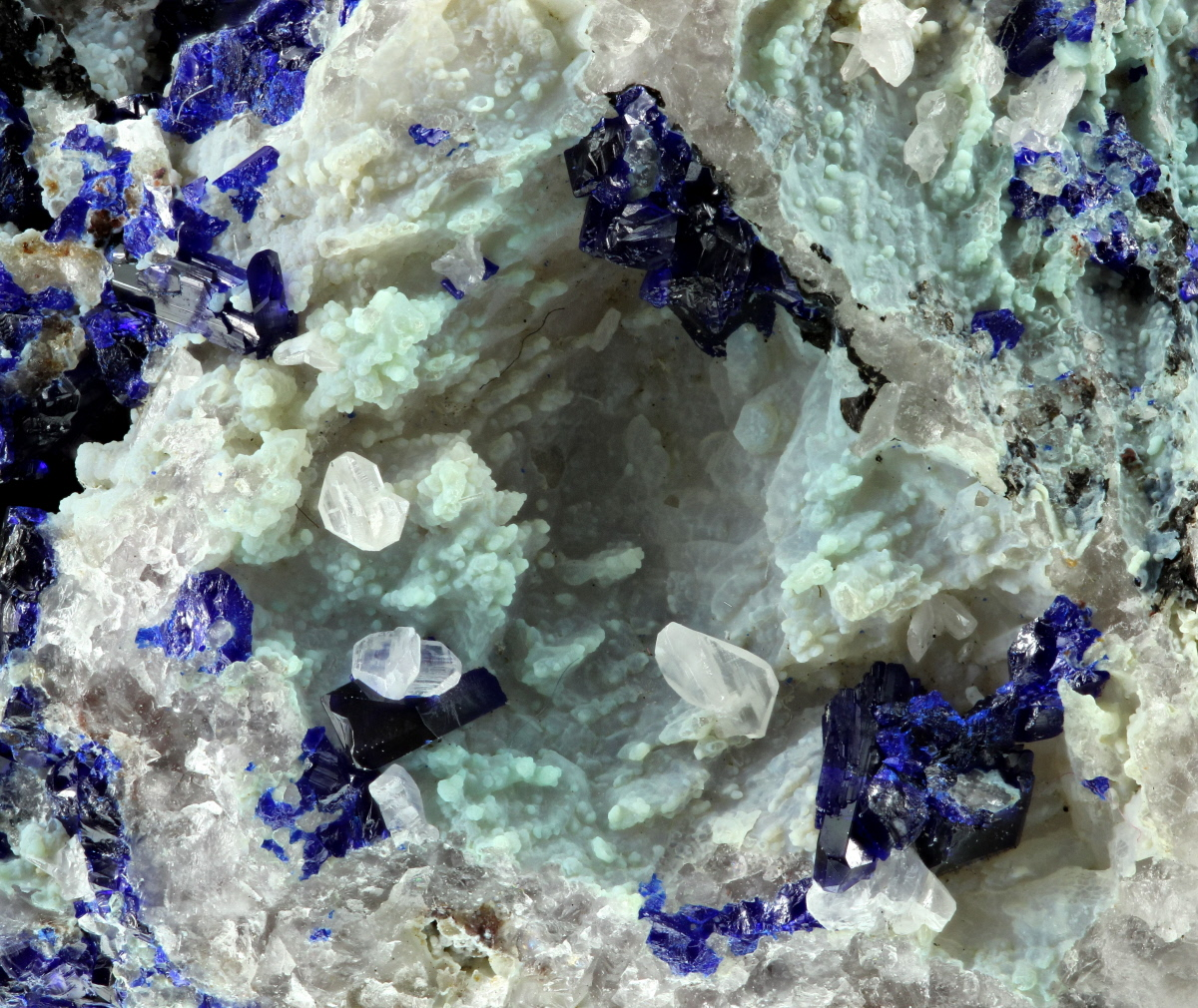 Azurite With Chalcedony & Cerussite