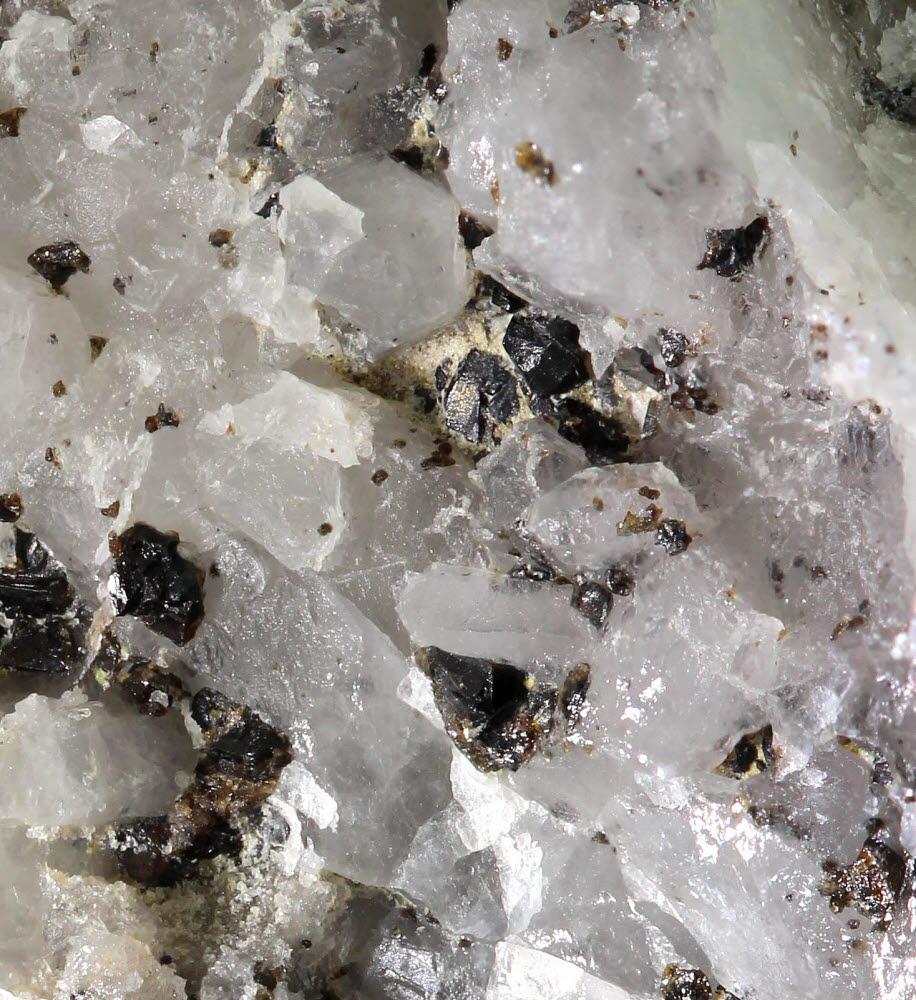 Cassiterite & Pseudomalachite