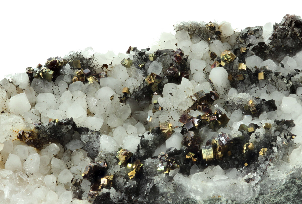 Pyrite With Arsenopyrite & Quartz