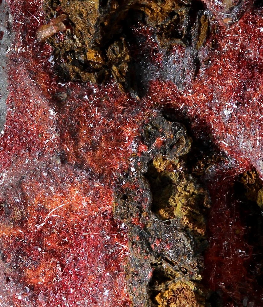 Native Copper With Chalcotrichite